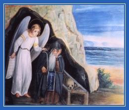Преподобный Антоний Великий и Ангел