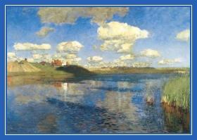 Тучи, небо, весна, лето, река