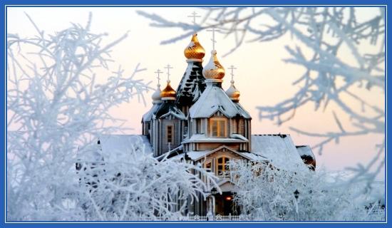 Зимний храм, снег