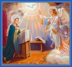 Архангел Гавриил пред Девой Марией, Благовещение