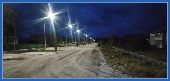 Имбинский, вечер, фонари