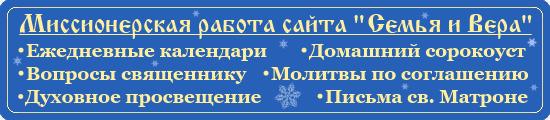 Миссионерская работа сайта Семья и Вера - декабрь