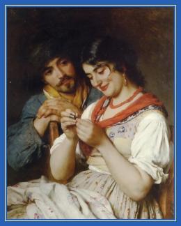 Муж и жена, картина, супруги
