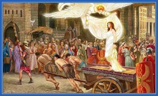 Святая великомученица Варвара. Картина Натальи Климовой