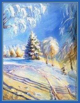 Зима, картина