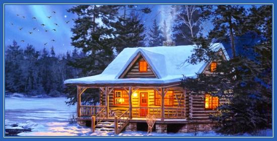 Дом, Новый год, Рождество, зима
