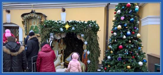 Рождественска елка у иконы блаженной Матроны