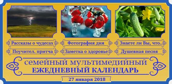 Семейный православный календарь на 27 января