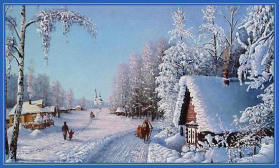 Зимняя деревня!