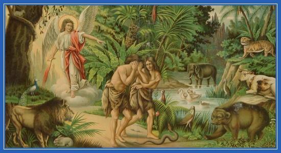 Адамово изгнание из Рая, Адама и Евы