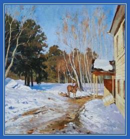 Февраль, лошадка, зима, ранняя весна