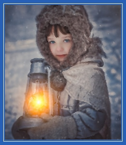 Мальчик с фонарем, зима