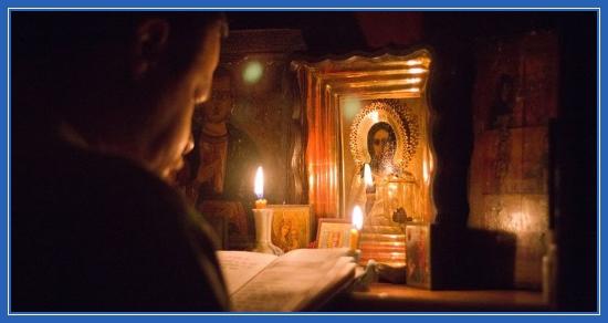 Молитва домашняя, пост, лампада, книга