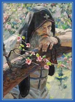 Размышление, вечность, думы, монах, печаль, Ослабя