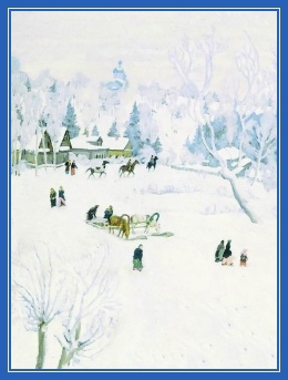 Зима, белоснежная, снег, лошадь