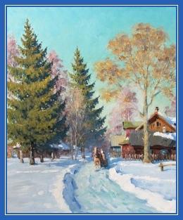 Зима, февраль, картина