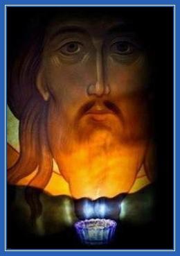 Господь Иисус Христос, икона, лампада