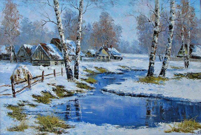 Раняя весна. Евгений Синев