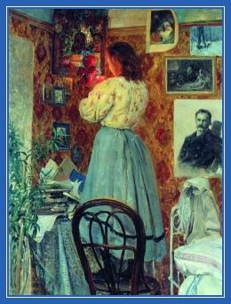 Женщина, молитва, красный угол, лампада