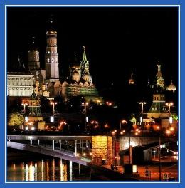 Ночная Москва, храмы, столица