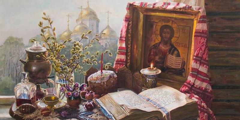 Пасхальный пейзаж художника А. Панова