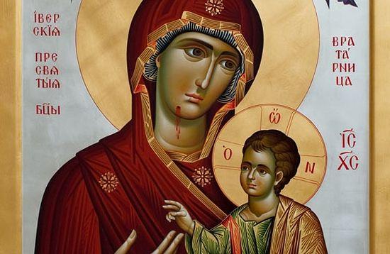 Иверская икона Божией Матери. Вратарница