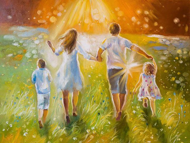 Картина семья