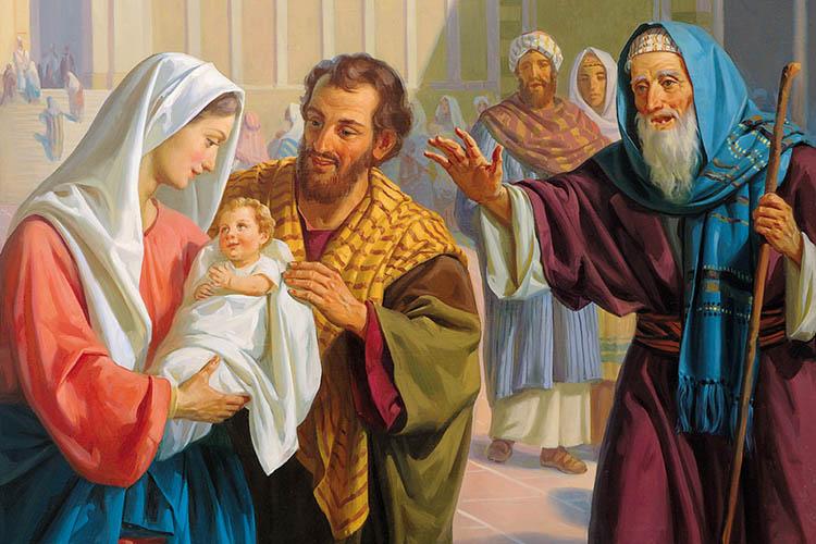 Пресвятая Мария и Иосиф принесли Иисуса в Иерусалимский храм