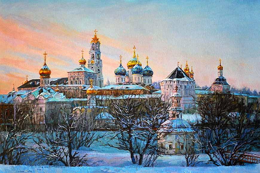 Троице Сергиева Лавра. Зима
