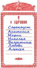 Церковная записка - какие они бывают?