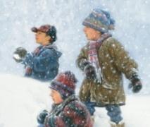Уличная игра для детей. Зимой.