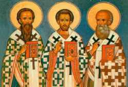 Василий Великий Григорий Богослов и Иоанн Златоуст