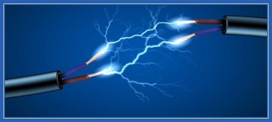 Электричество, провода, удар,