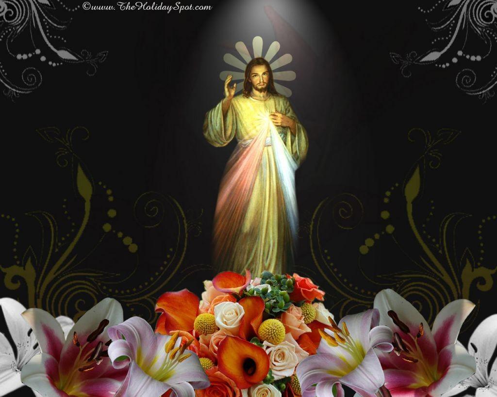 Пасхальные фоны - Благословляющий Христос