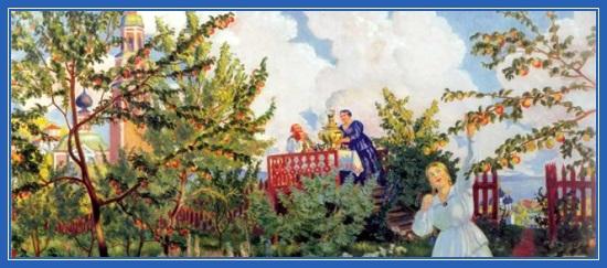 Яблочный Спас, картина