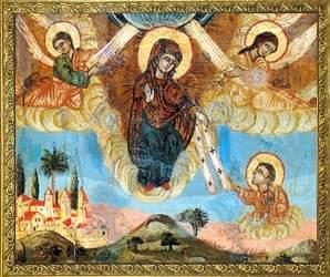 Положение честного пояса Пресвятой Богородицы