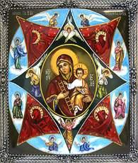 Икона Богородицы - Неопилимая Купина