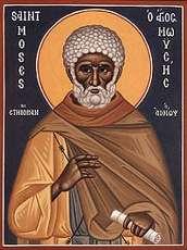 Преподобный Моисей Мурин - икона