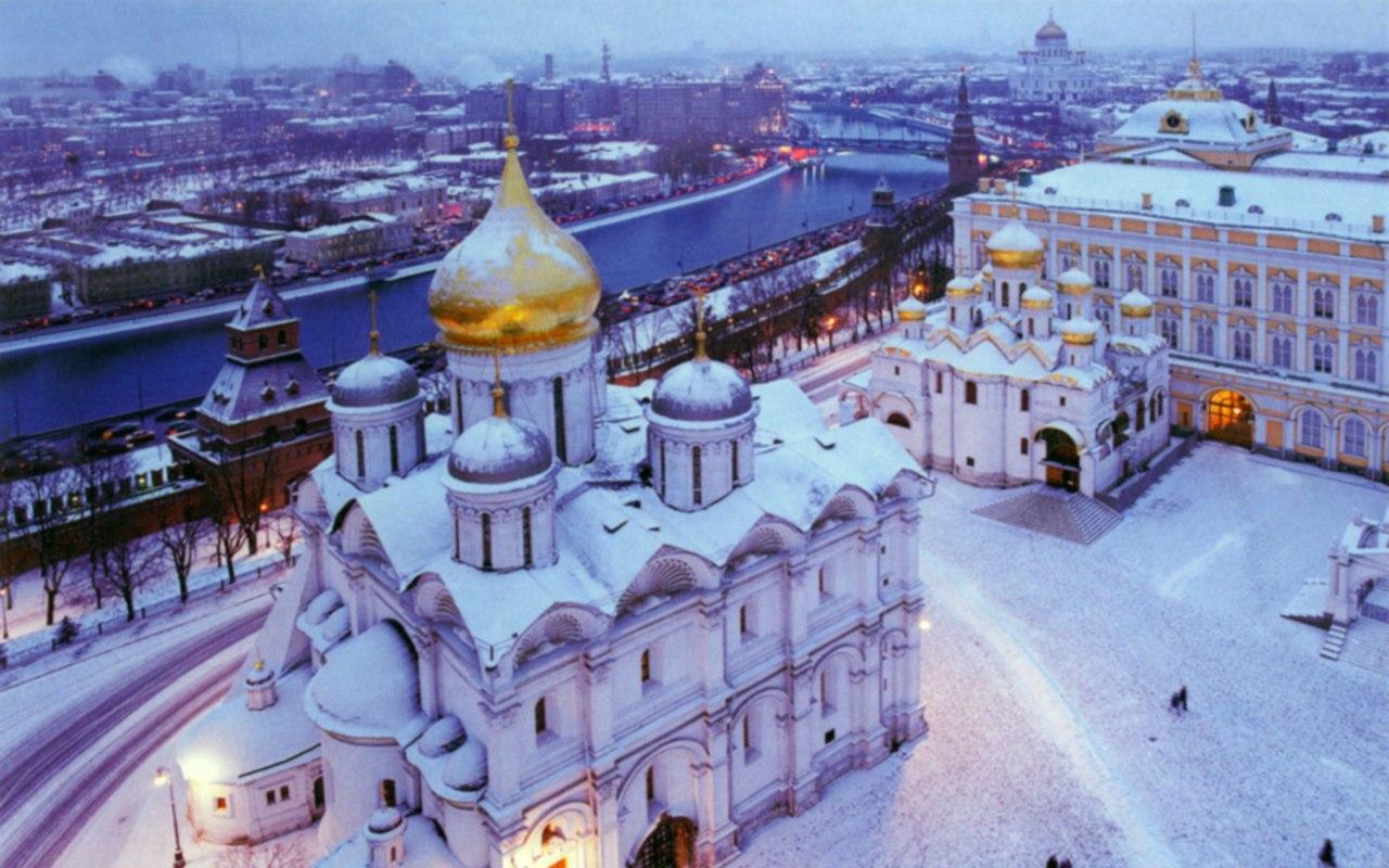 Кремлевские храмы - зимой