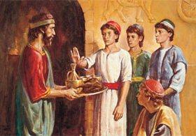 Святые - Даниил, Анания, Азария и Мисаил
