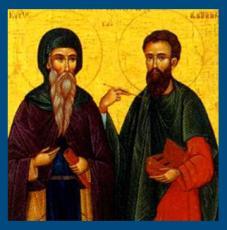 Святые бессребреники и врачи Кир и Иоанн
