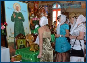 Икона и мощи святой Матроны Московской