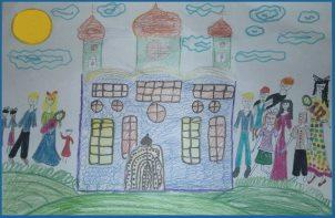Храм - рисунок Кати Романовой