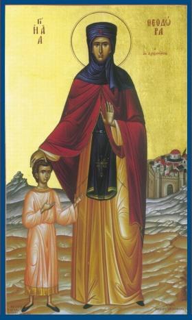 Преподобная Феодора Александрийская - икона