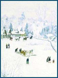 Русская зима - картина