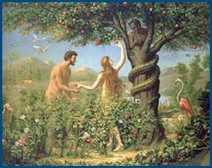 Адам и Ева, в раю