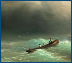 Буря в море