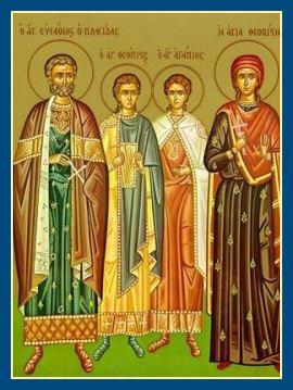 великомученик Евстафий Плакида и его семья