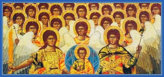 Собор Архангела Михаила, Ангелы