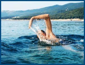 плавец, пливет, человек
